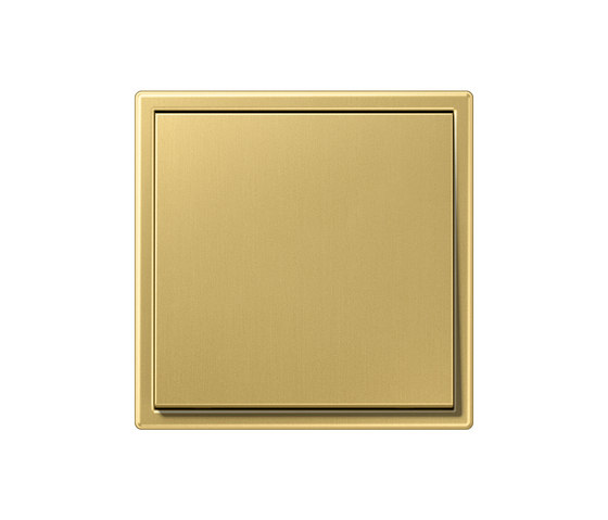 LS 990 brass classic switch by JUNG | Two-way switches