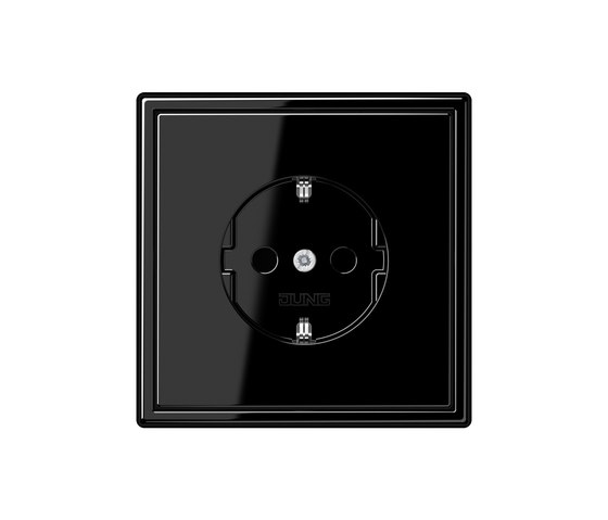 LS 990 black socket by JUNG | Schuko sockets