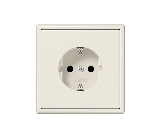LS 990 ivory socket by JUNG | Schuko sockets