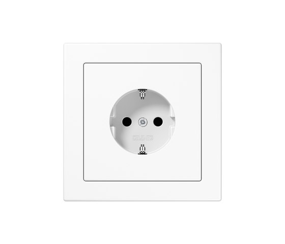 LS-design white socket by JUNG | Schuko sockets