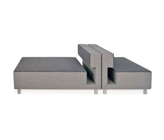2cube Armchair Chaise Longue by PIURIC | Modular seating elements