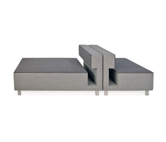 2cube Armchair Chaise Longue de PIURIC | Éléments de sièges modulables