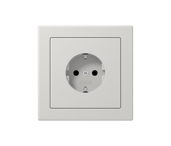 LS-design light grey socket by JUNG | Schuko sockets