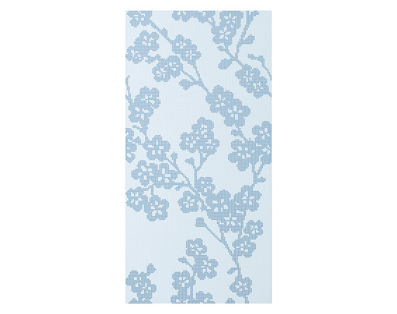 Audrey | Decoro blossoms azzurro chiaro by Lea Ceramiche | Wall tiles