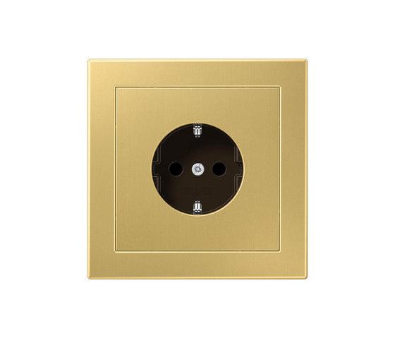 LS-design brass classic socket by JUNG | Schuko sockets