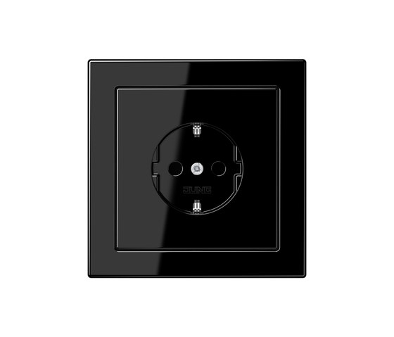 LS-design black socket by JUNG | Schuko sockets