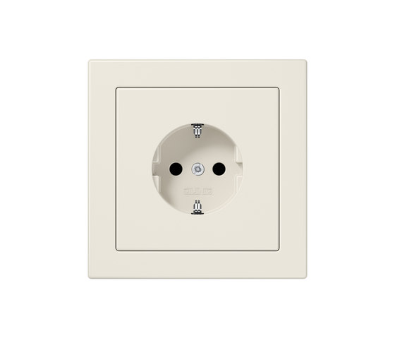 LS-design ivory socket by JUNG | Schuko sockets