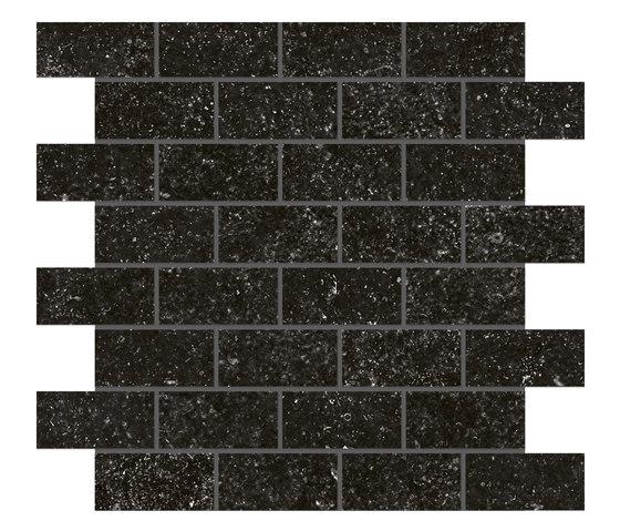 Blue mountain | Mosaico mattone ivory black by Lea Ceramiche | Tiles