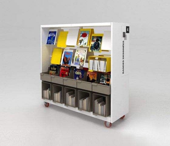 BK 3 by IDM Coupechoux | Library shelving systems