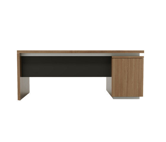 Brand desk modesty leather by M2L | Individual desks