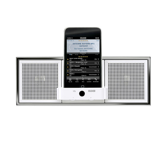 Music-Center by JUNG | Smart phone / Tablet docking stations