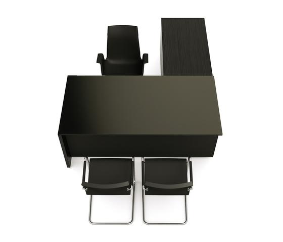 Brand L-desk modesty glass de M2L | Bureaux individuels