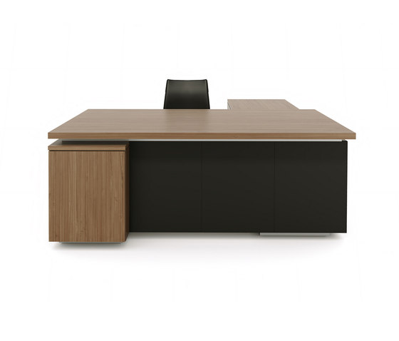 Brand L-desk wood leather by M2L | Individual desks