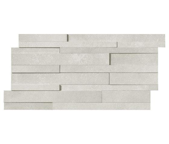 Masterplan | Decoro muretto 3D grigio chiaro de Lea Ceramiche | Carrelages