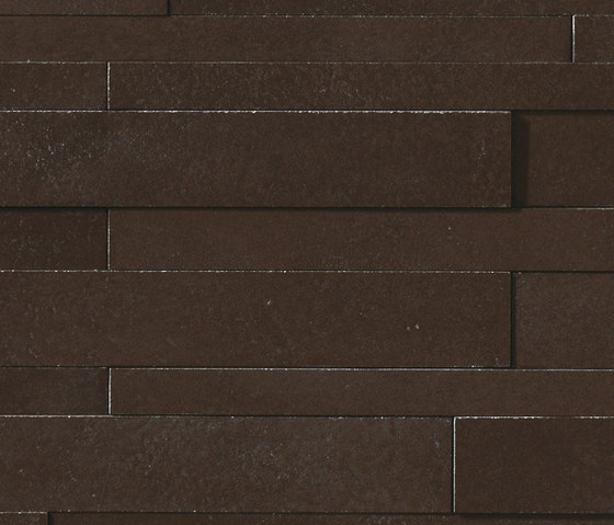Masterplan | Decoro muretto 3D marrone scuro by Lea Ceramiche | Tiles