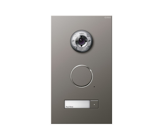 Door station stainless steel | 1-gang with video by Gira | Intercoms (exterior)