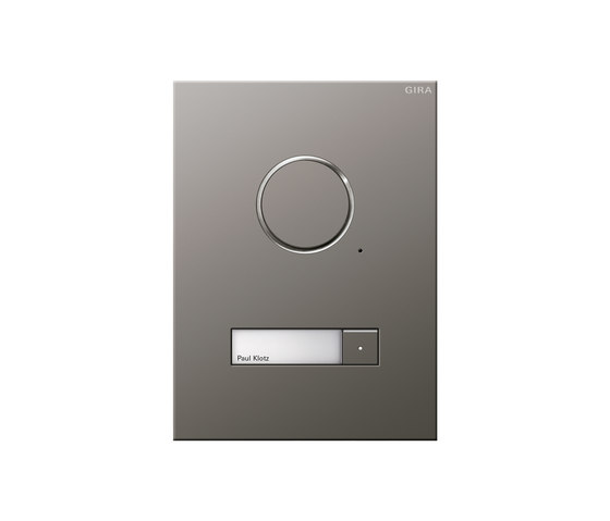 Door station stainless steel by Gira | Intercoms (exterior)
