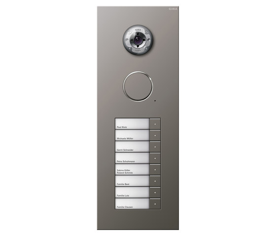 Door station stainless steel | 8-gang by Gira | Door bells