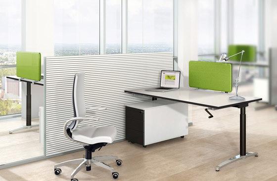 Canvaro desking programme by Assmann Büromöbel | Individual desks