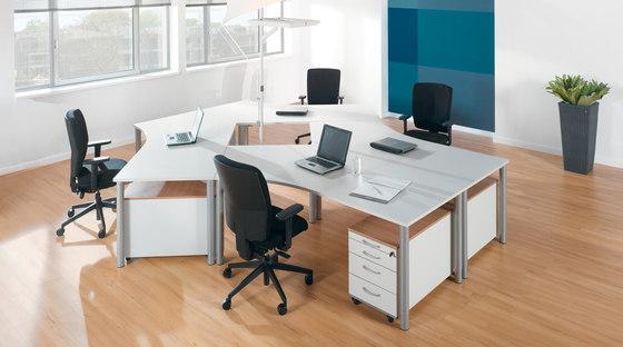 Rondana Desk range by Assmann Büromöbel | Desking systems