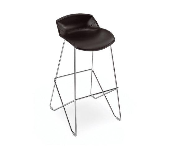 Kaleidos Cuoio Stool by Caimi Brevetti | Bar stools