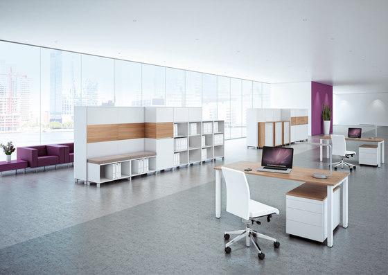Intavis Stauraumsystem von Assmann Büromöbel | Raumteilsysteme