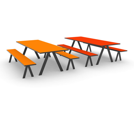 K2 Eating de JENSENplus | Tables et bancs de restaurant