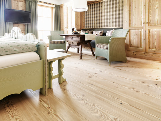 LARCH wide-plank brushed | white oil de mafi | Sols en bois