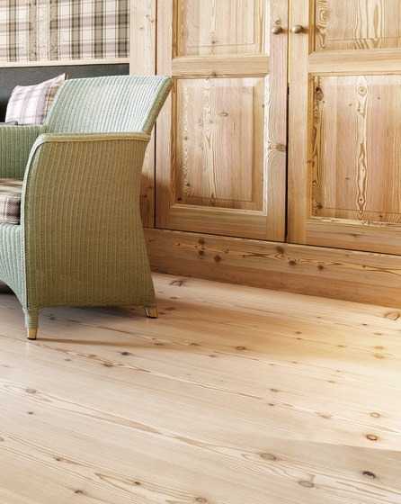 LARCH wide-plank brushed | white oil by mafi | Wood flooring