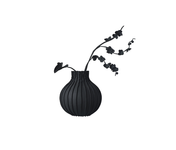 Wall vase Black / White by JAN WILLEM de LAIVE | Objects