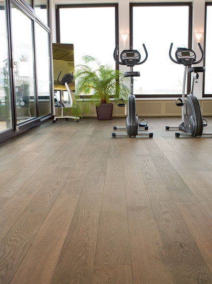 OAK Clear brushed | grey oil by mafi | Wood flooring