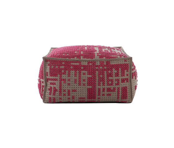 Canevas Pouf Soft Abstract Pink 1 di GAN | Pouf