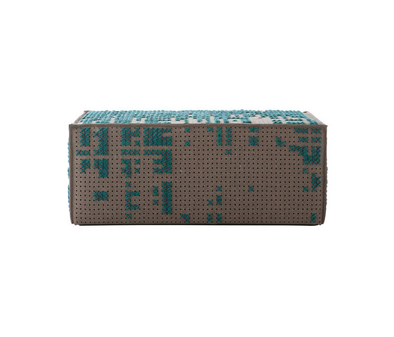 Canevas Pouf Modular Abstract Green 6 de GAN | Poufs