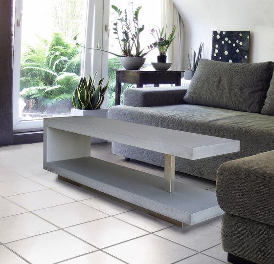 Catala Concrete coffee table de OGGI Beton | Tables basses de jardin