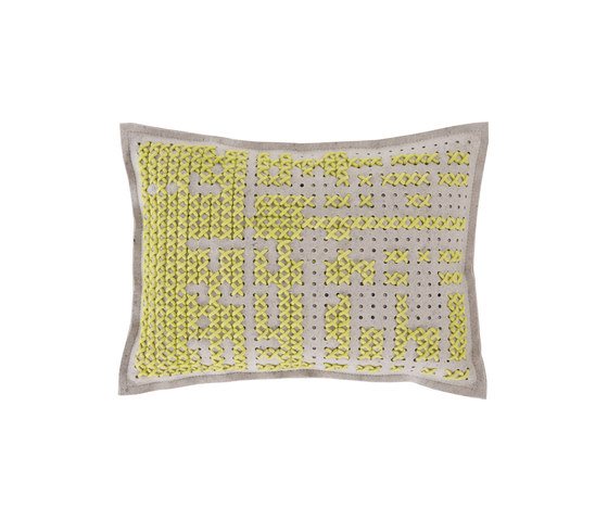 Canevas Cushion Abstract Yellow 6 by GAN | Cushions