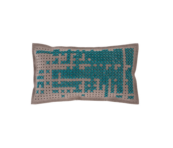 Canevas Cushion Abstract Green 1 by GAN | Cushions