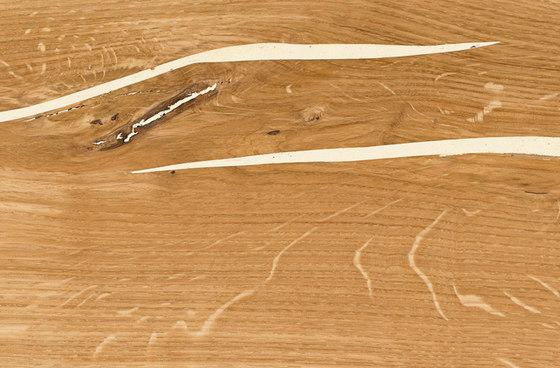 mafi ROVERE Corallo bianco con nodi listone largo. spazzolato  |  olio naturale di mafi | Pavimenti in legno