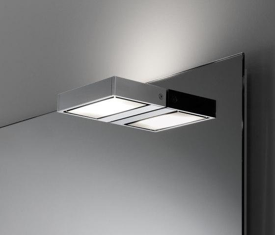 Spiegelwand style mit Aufbauleuchte SmallLine130 von talsee | Badleuchten