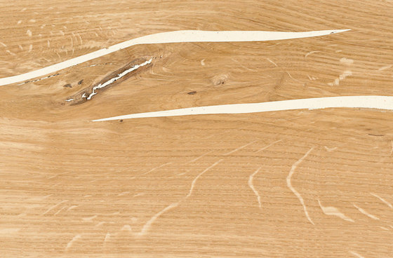 mafi ROVERE Corallo bianco con nodi listone largo. spazzolato  |  olio bianco di mafi | Pavimenti in legno