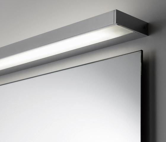 Spiegel pure mit Aufbauleuchte SmallLine by talsee | Mirror lighting