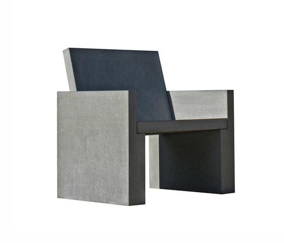 Volterra Concrete armchair di OGGI Beton | Poltrone da giardino