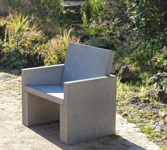 Volterra Concrete armchair de OGGI Beton | Sillones de jardín