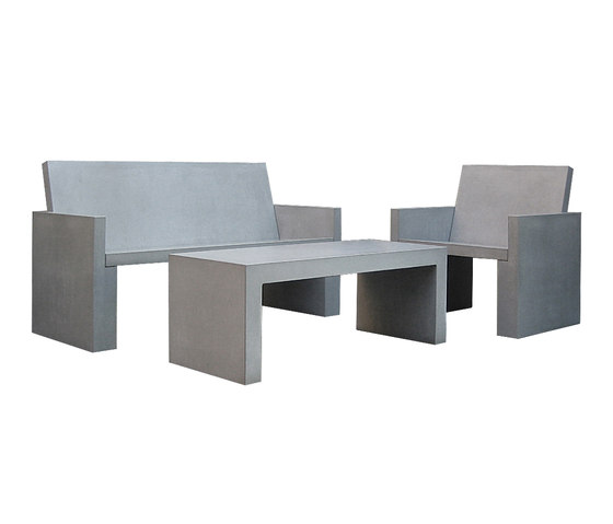 Messina Concrete bench by OGGI Beton | Garden benches