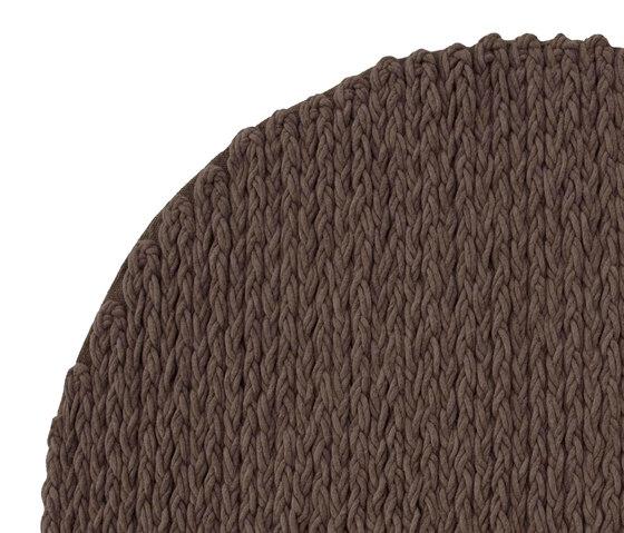 Trenzas Rug Circular Brown 6 by GAN | Rugs / Designer rugs