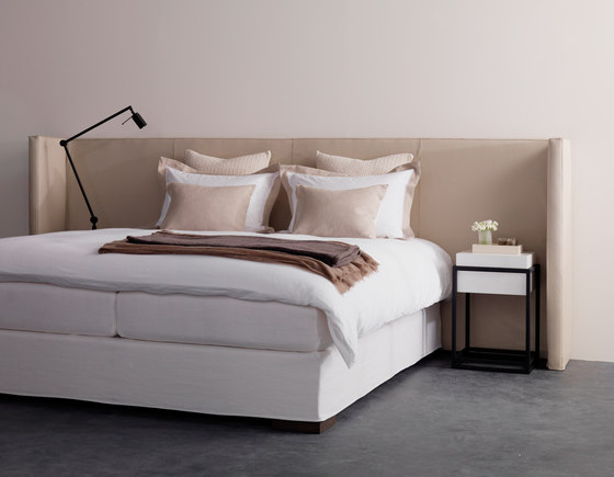 Menton headboard leather by Nilson Handmade Beds | Bed headboards