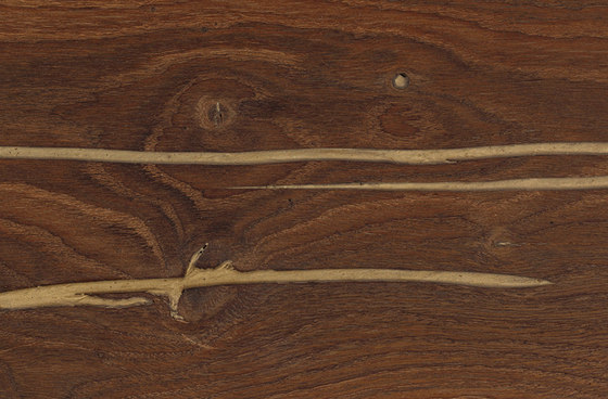 mafi CHÊNE Corail Vulcano doré avec noeuds lame large. brossé  |  huilé nature de mafi | Sols en bois
