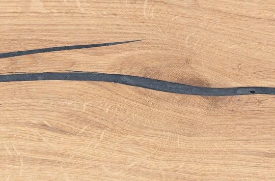 mafi Magic OAK wide-plank black. hand-planed | white oil by mafi | Wood flooring