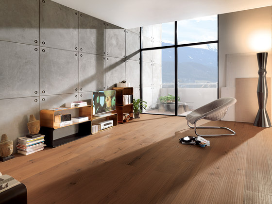 ROSSO Vulcano Riva Mezzo brushed   white oil by mafi   Wood flooring