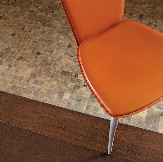 Domino LARICE Vulcano levigato | olio naturale di mafi | Mosaici in legno