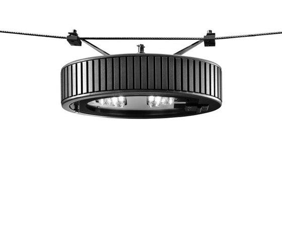 Novara OV UE LED Catenary suspended luminaire by Hess | Spotlights